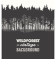 Pine forest design templates vector image vector image