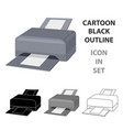 printer icon in cartoon style isolated on white vector image vector image