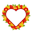 red heart decorated with bright colors vector image vector image