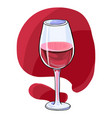 red wine glass hand drawn style vector image vector image