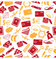 richness and money theme color icons seamless vector image vector image