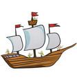 sailor sailing ship on paper vector image