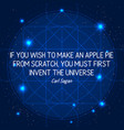 science quote on space geometric background vector image