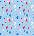 seamless background with red and blue balloons vector image vector image