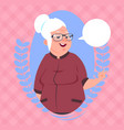 senior woman with chat bubble modern grandmother vector image vector image