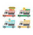 set food trucks vector image