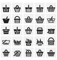 shop basket icons set on squares background for vector image