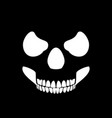 skull profile design black background vector image