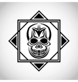 skull tattoo face design vector image