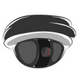 surveillance camera for security tracking color vector image