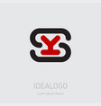 sy - design element or icon initial monogram vector image vector image