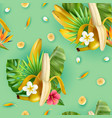 tropical plants banana pattern vector image vector image