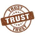 Trust brown grunge round vintage rubber stamp vector image