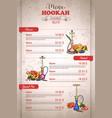 vertical color menu design vector image vector image