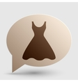 Woman dress sign Brown gradient icon on bubble vector image