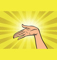 women open palm hand hold gesture vector image vector image
