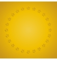 Yellow stars in a circle with shadow Eps 10 vector image