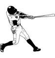 baseball player sketch vector image