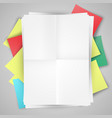 blank papers and post-it-s vector image