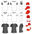 shirts and baseball caps vector image