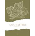 Flower on torn paper vector image