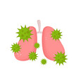 sick unhealthy lungs with disease vector image