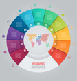 11 pie chart template for graphs vector image