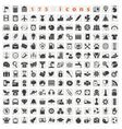 175 Web icons vector image vector image