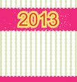2013 new year banner retro design vector image