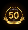 50 years anniversary celebration logotype golden vector image vector image