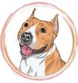 sketch smiling dog American Staffordshire