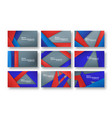 abstract red and blue material design on grey vector image vector image