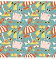 Beach pattern vector image vector image