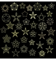 big set colorful star icons vector image