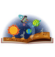 book of planets in solar system vector image