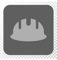 Builder Hardhat Rounded Square Button vector image vector image