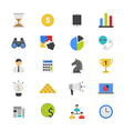 Business and Finance Strategy Flat Color Icons vector image