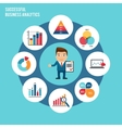 business chart set vector image vector image