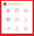 celebrate icons vector image vector image