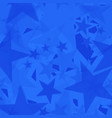 chaotic blue stars on a sea background in vector image vector image