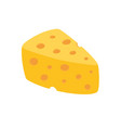 cheese icon isolated on white background vector image