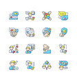 communication skills rgb color icons set vector image vector image