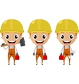 construction worker cartoon character vector image