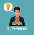crowfunding and business vector image vector image