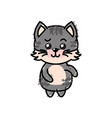 cute cat wild animal with face expression vector image vector image