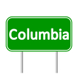District of Columbia green road sign vector image vector image
