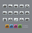 e-mail icons - satinbox series vector image vector image