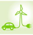 Eco car make a wind-mill icon vector image vector image