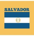 el salvador country flag vector image vector image