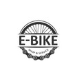 electric bike badge vector image